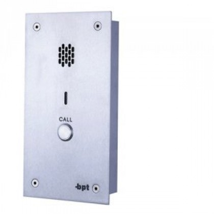 BPT VRA/1-10 flush mounted VR audio panel for system 200 with call button options